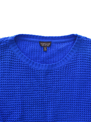 Blå Cropped Sweater fra Top Shop