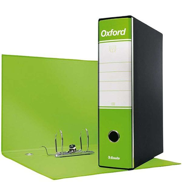 Registratore Oxford cm 35 x 28 x 8 verde lime