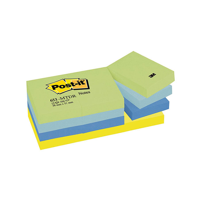 Blocco 3M Post-It 38X50 Neon Coll. Cf.12