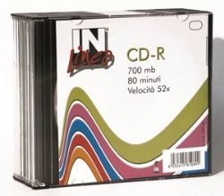 Cd-R In Ufficio R80 700Mb Slim