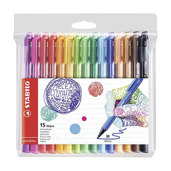 Pennarello Fineliner Stabilo Premium Pointmax Pz15 Colori Ass. Art.488