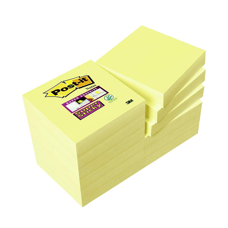 Blocco 3M Post-It 47,6X47,6 Super Sticky  Canary Cf.12