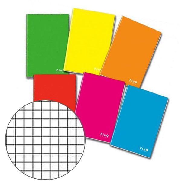 Quaderno Maxi Fluo Color A4 G80 Mm4 Ff20
