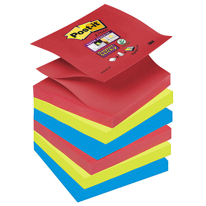 Blocco 3M Post-It 76X76 Super Sticky Colori Bora Bora Z-Note