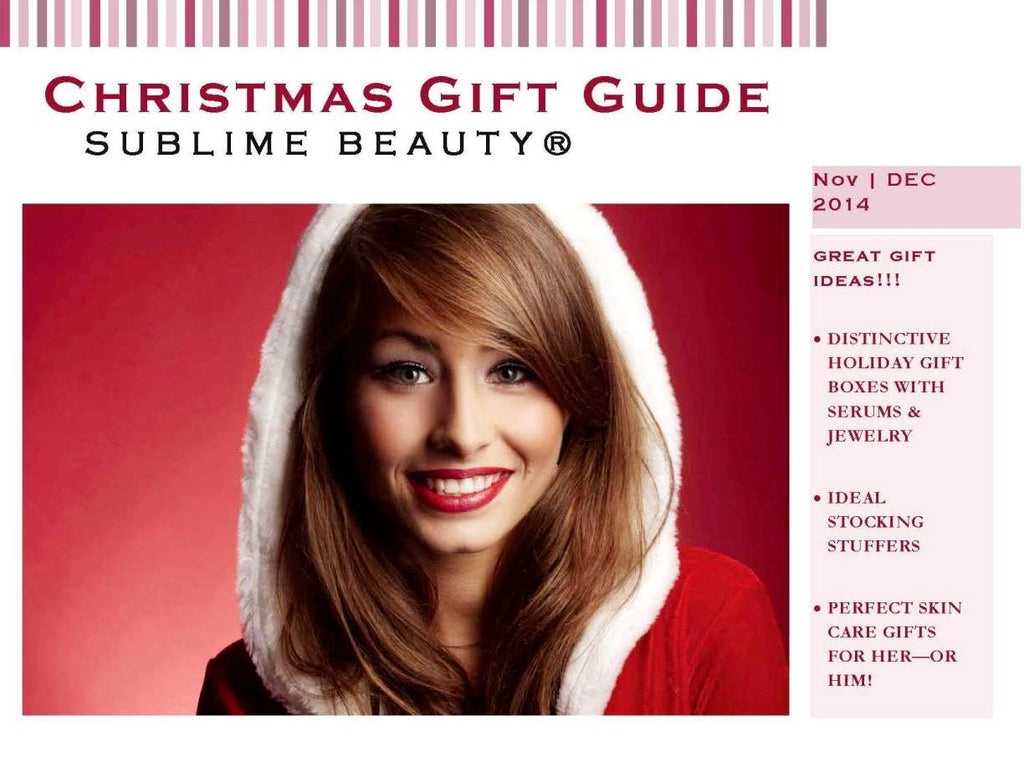 christmas gift guide from sublime beauty 2014