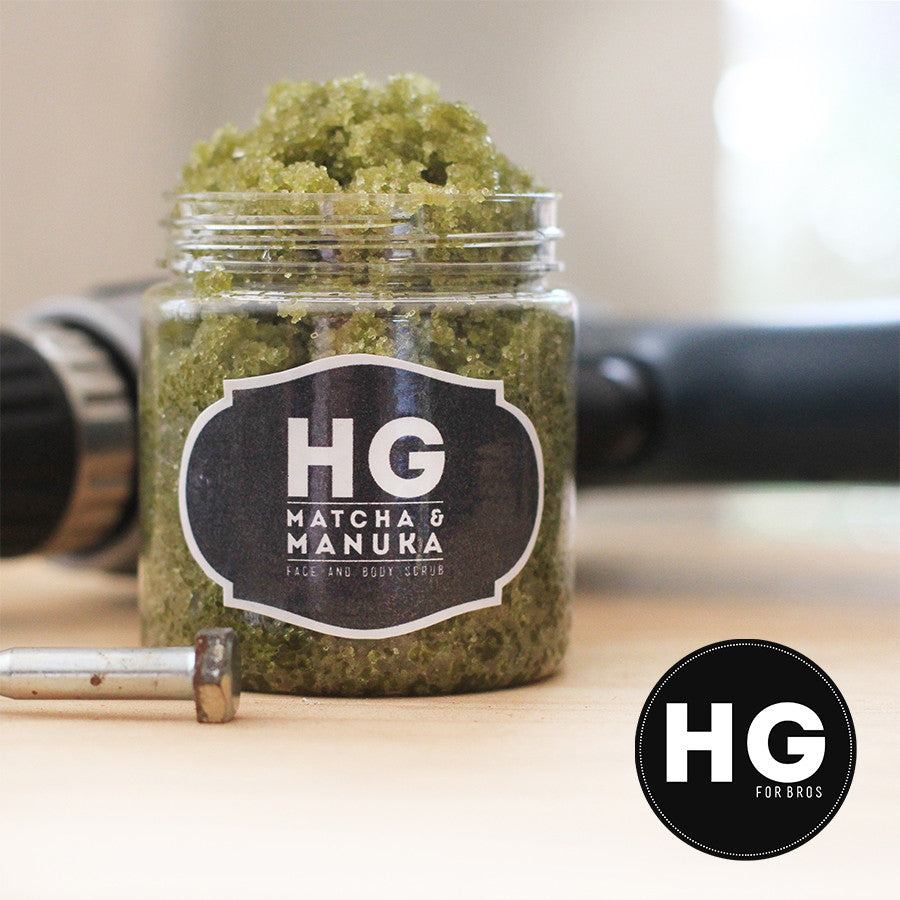 HG For Bros Matcha & Manuka Face and Body Scrub - Hey Gorgeous