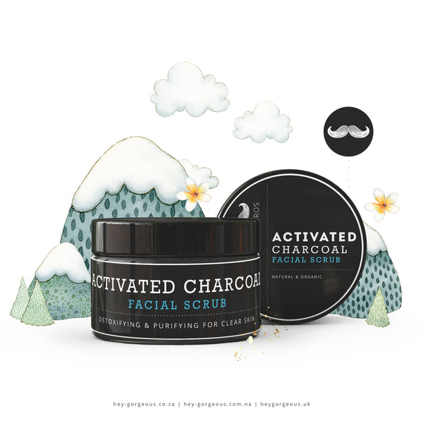 HG For Bros Activated Charcoal Detoxifying & Soothing Facial Scrub