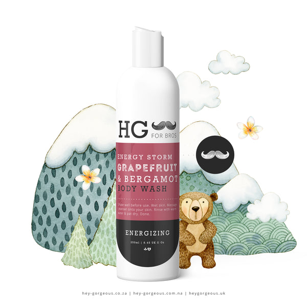 HG For Bros Grapefruit & Bergamot Body Wash