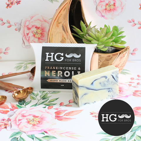 HG For Bros Frankincense & Neroli Natural Handmade Soap
