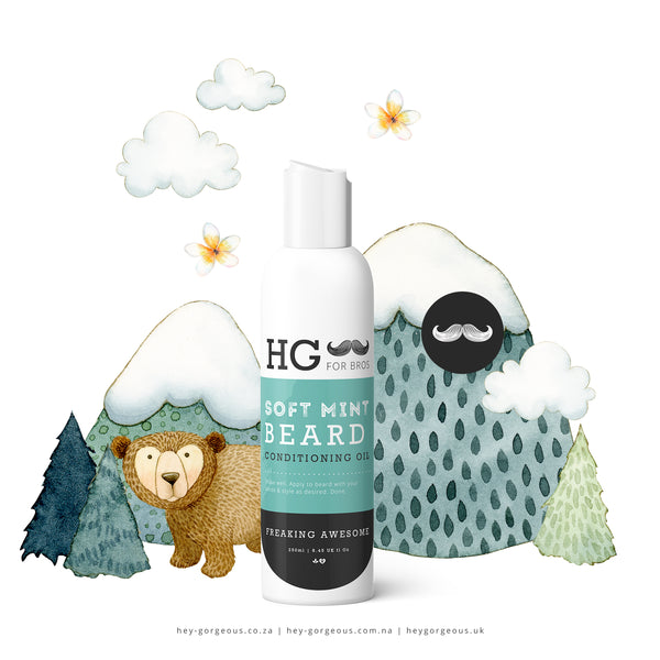 HG For Bros Soft Mint Beard Conditioning Oil