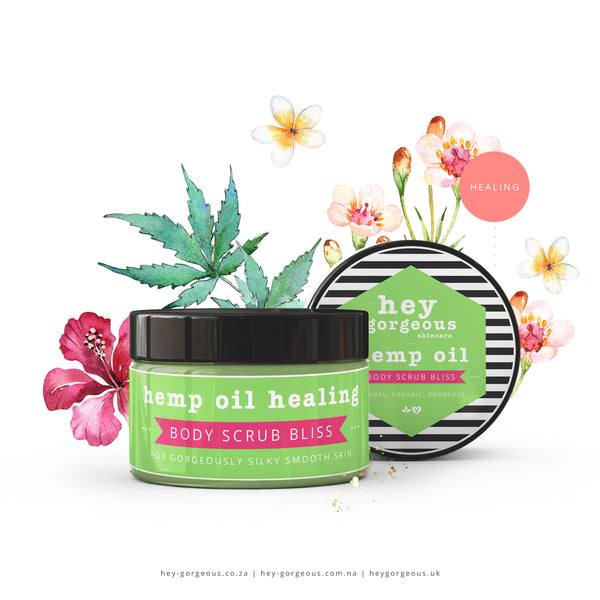 Hemp Oil Healing Body Scrub Bliss