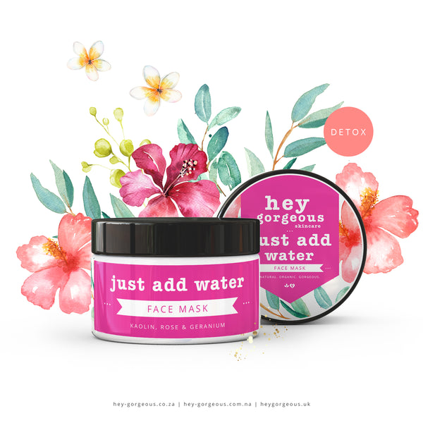 Just Add Water: Kaolin, Rose & Geranium Face Mask