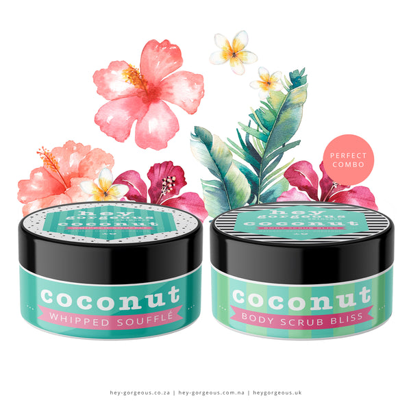 Little Treasure Coconut Soufflé & Scrub Gift Set