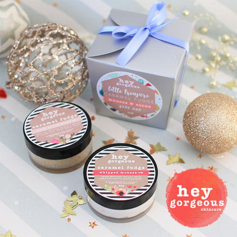 Little Treasure Caramel Fudge Mousse & Scrub Gift Set