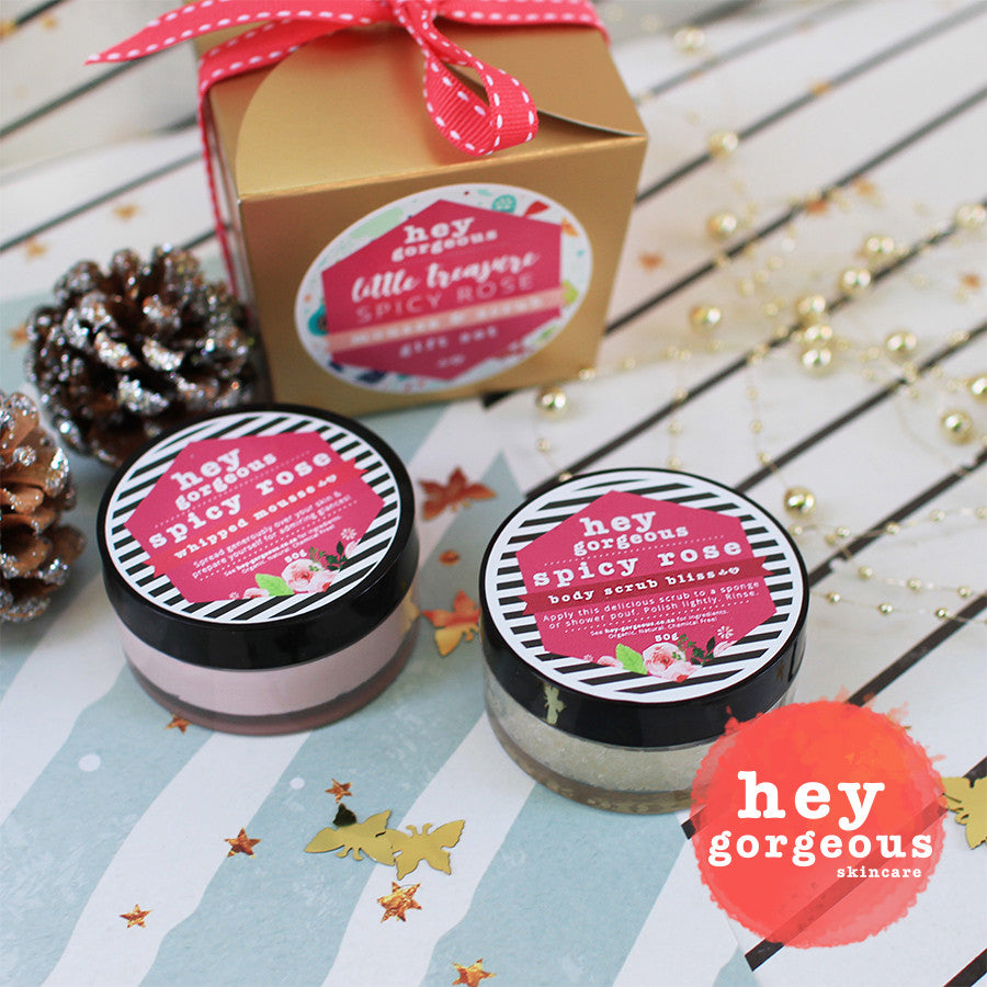 Little Treasure Spicy Rose Mousse & Scrub Gift Set - Hey Gorgeous