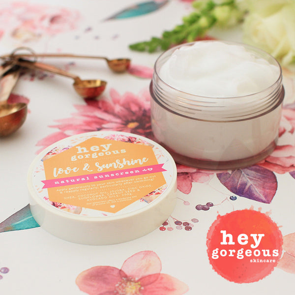 Love & Sunshine All Natural Sunscreen - Hey Gorgeous