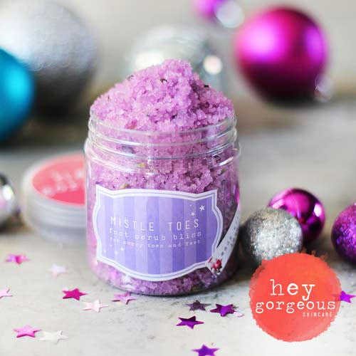 Holiday Happy Mistle Toe Foot Scrub Bliss - Hey Gorgeous