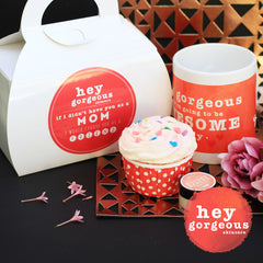 Mother's Day Mug & Cupcake Gift Set - Hey Gorgeous