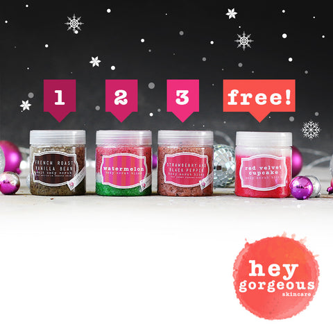 One Two Three Body Scrub Gift Set (SAVE R120)