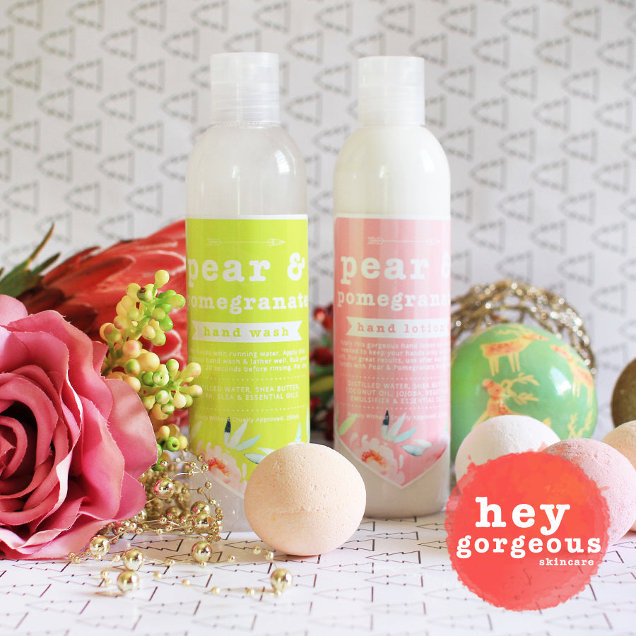 Pear & Pomegranate Hand Lotion & Hand Wash Gift Set