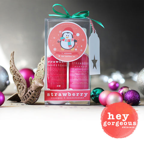 Strawberry Shampoo & Conditioner Combo Gift Set