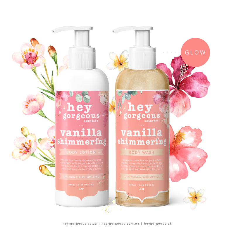 Vanilla Shimmering Body Wash & Lotion Gift Set