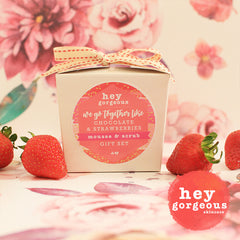 We Go Together Like Chocolate & Strawberries Gift Set - Hey Gorgeous