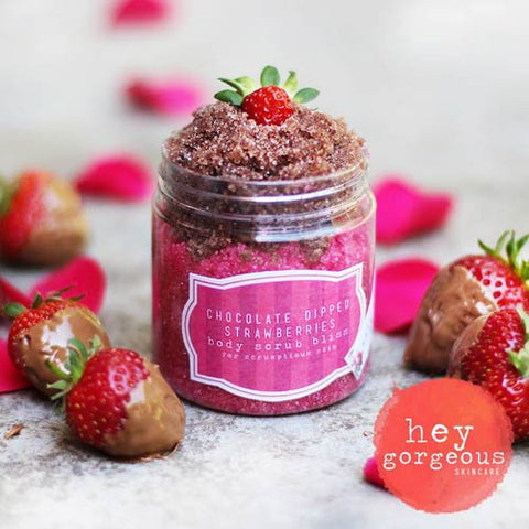 Chocolate Dipped Strawberries Body Scrub