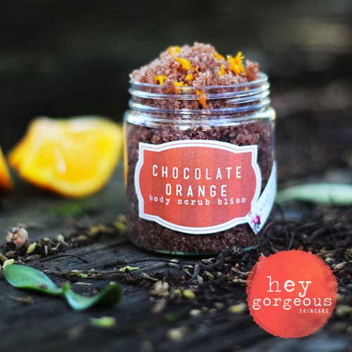 Chocolate Orange Body Scrub Bliss - Hey Gorgeous