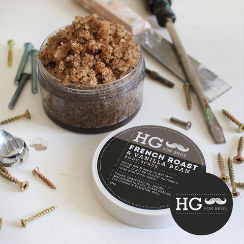 HG For Bros French Roast & Vanilla Bean Body Scrub