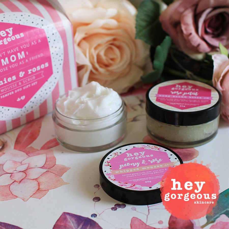 Mother's Day Peonies & Roses Pamper Duo Gift Set - Hey Gorgeous