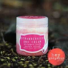 Strawberries & Cream Whipped Body Scrub Bliss - Hey Gorgeous