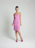 Nina Strapless Pink Derby Dress