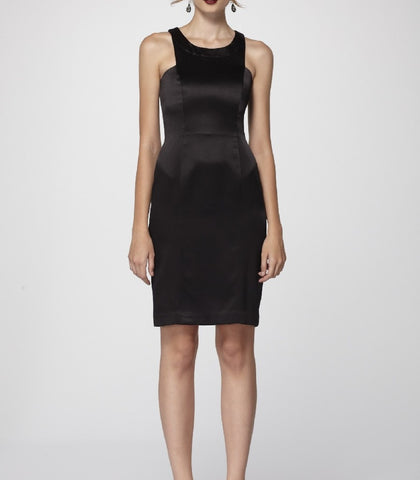 Sleek _Sleeveless_ Double-Lined_ Silk _Sheath_ Dress