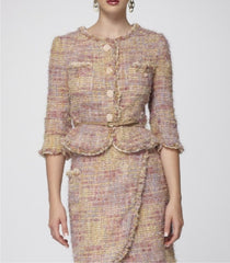 Rose Italian Bouclé Signature-Tailored Jacket