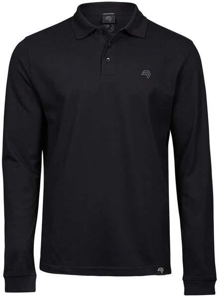% Sale [2XL] TJS 1406 Luxury Longsleeve Stretch Langarm Polo Shirt