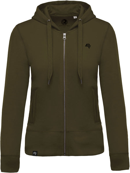 KRB K485 Women's Bio-Baumwolle Hooded Sweat Jacket