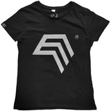 % Sale [M] COMPANIEER Symbol Women's T-Shirt Black