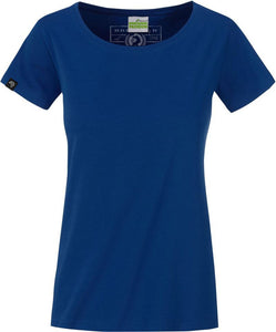 Organic Cotton Tshirt - COMPANIEER Bio-Baumwolle Dark Royal Blue Blau