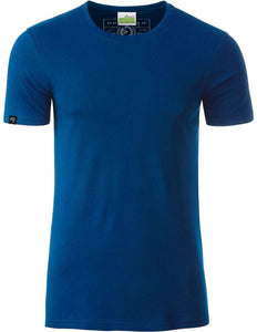 Bio-Baumwolle T-Shirt COMPANIEER Organic Cotton Royal Dark Blau Blue