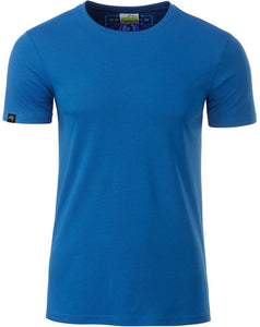 Bio-Baumwolle T-Shirt COMPANIEER Organic Cotton Royal Blau Blue