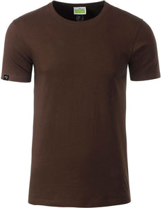Bio-Baumwolle T-Shirt COMPANIEER Organic Cotton Braun Brown