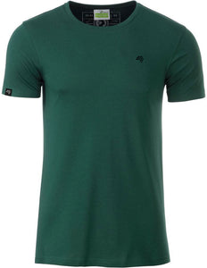 Bio-Baumwolle T-Shirt COMPANIEER Organic Cotton Green Grün Dark Bottlegreen