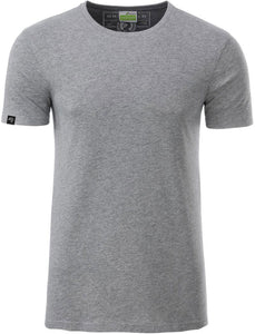 Bio-Baumwolle T-Shirt COMPANIEER Organic Cotton Gray Grau Grey Melange Heather