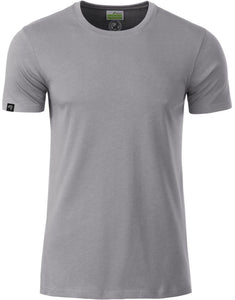 Bio-Baumwolle T-Shirt COMPANIEER Organic Cotton Gray Grau Grey Light Hellgrau