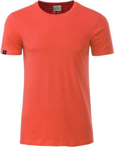 Bio-Baumwolle T-Shirt COMPANIEER Organic Cotton Coral Orange