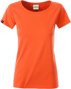 Organic Cotton Tshirt - COMPANIEER Bio-Baumwolle Coral Orange Rot Red