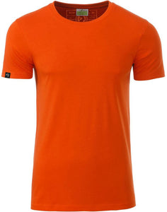 Bio-Baumwolle T-Shirt COMPANIEER Organic Cotton Dark Dunkelorange Orange