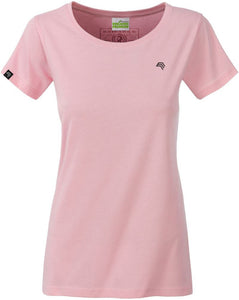 Organic Cotton Tshirt - COMPANIEER Bio-Baumwolle Rose Rosa Pink Light