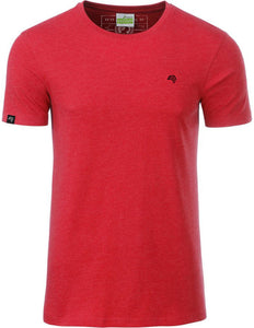 Bio-Baumwolle T-Shirt COMPANIEER Organic Cotton Red Rot Melange Heather